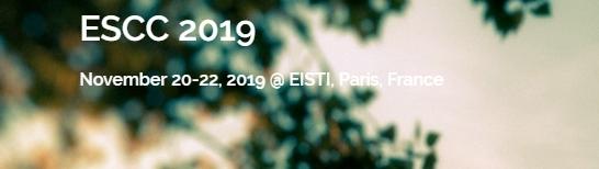 2019 European Symposium on Computer and Communications (ESCC 2019), Paris, France