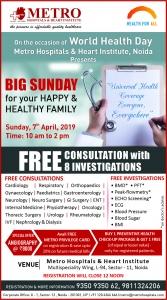 Big Sunday on World Health Day - Metro Hospitals