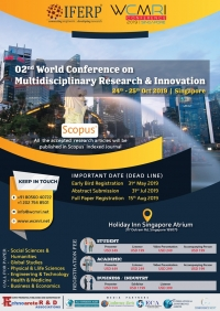 02nd World Conference on Multidisciplinary Research & Innovation (WCMRI-19)
