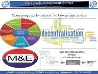 Monitoring and Evaluation for Governance course