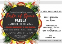 Taste of Spain at Props Brewery and Tap Room May 3, 2019