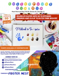 Easter Paint Sip & Hip | Sat. April 20th | 2105 W. Division St. Chicago, IL