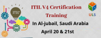 ITIL V4 Foundation certification training in Al Jubail, Saudi Arabia