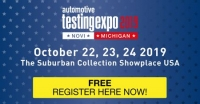 Automotive Testing Expo 2019, Novi, Michigan, USA - 22-24 October