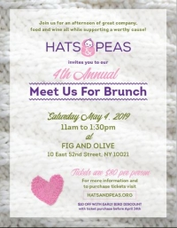 Hats and Peas: Meet us for Brunch Fundraiser