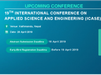 19th International Conference on Applied Science and Engineering (ICASE)