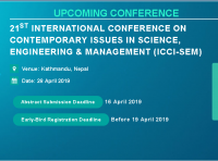 21st International Conference on Contemporary issues in Science, Engineering & Management (ICCI-SEM)