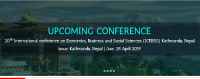 20th International conference on Economics, Business and Social Sciences (ICEBSS)