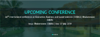 26th International conference on Economics, Business and Social Sciences (ICEBSS)