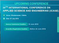 25th International Conference on Applied Science and Engineering (ICASE)