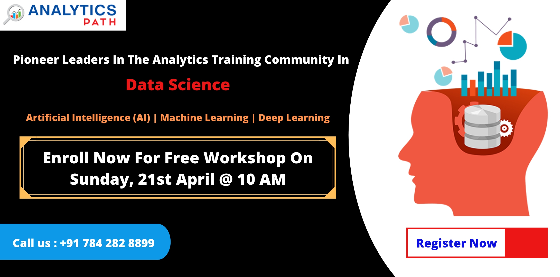 Attend Free Data Science  Workshop By Analytics Path On 21st April,10AM, Hyd, Hyderabad, Telangana, India