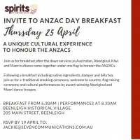 Spirits of the Red Sand Anzac Day Breakfast