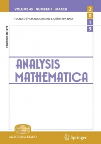 First Analysis Mathematica International Conference / 12-17 August, 2019