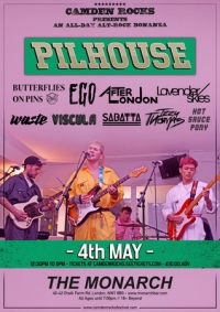 Camden Rocks All Dayer feat. Pilhouse & more at The Monarch