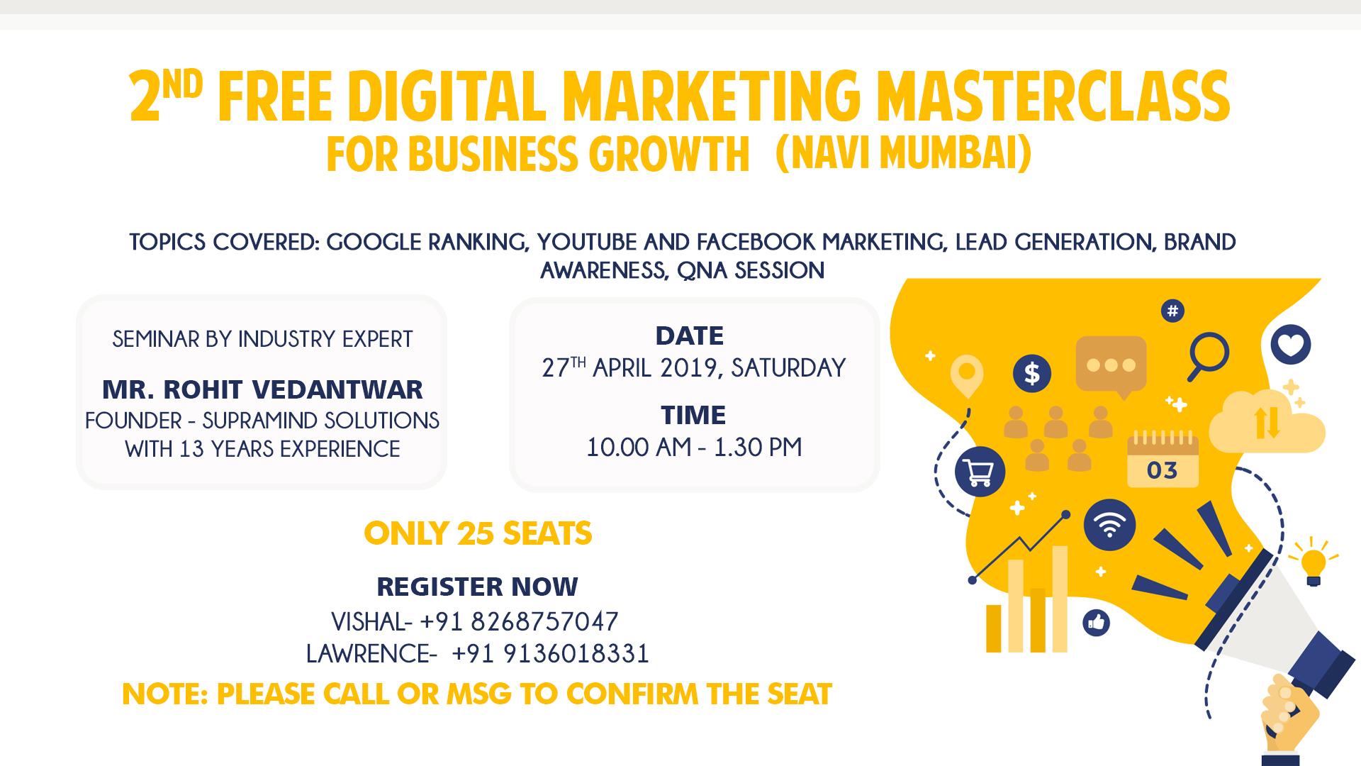 2nd Free Digital Marketing Masterclass for Successful Business Growth, Mumbai suburban, Maharashtra, India