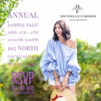 Sample Sale Michelle Farmer Collaborate April 25 to 27