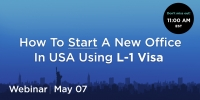 L-1 Visa Option For Startups To Enter USA - Free Immigration Webinar