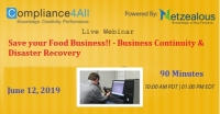 Food Business!! - Business Continuity & Disaster Recovery