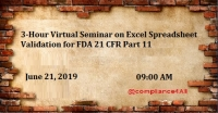 Excel Spreadsheet Validation for FDA 21 CFR Part 11 (2019)