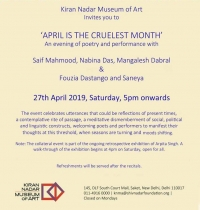 April is the Cruelest Month -  An evening with Poetry and Performance