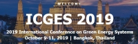 2019 International Conference on Green Energy Systems (ICGES 2019)