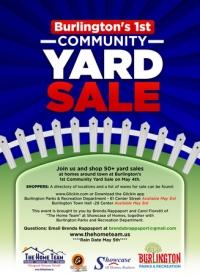 Burlington's 1st Community Yard Sale