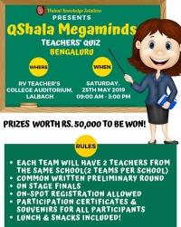 QShala Megaminds - The Largest Teachers' Quiz in Bengaluru!