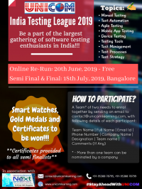 India Testing League 2019 (Round One- Re Run) | June 20, 2019