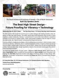 RAIC+CNV Best High Street Design-Future Proofing for Vibrancy+Technology
