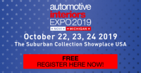 Automotive Interiors Expo USA 2019 - Novi, MI, USA - 22-24 October