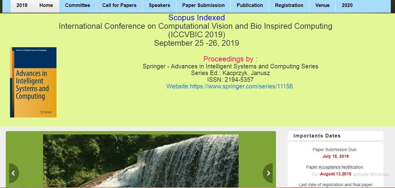 Scopus-Indexed Springer International Conference on