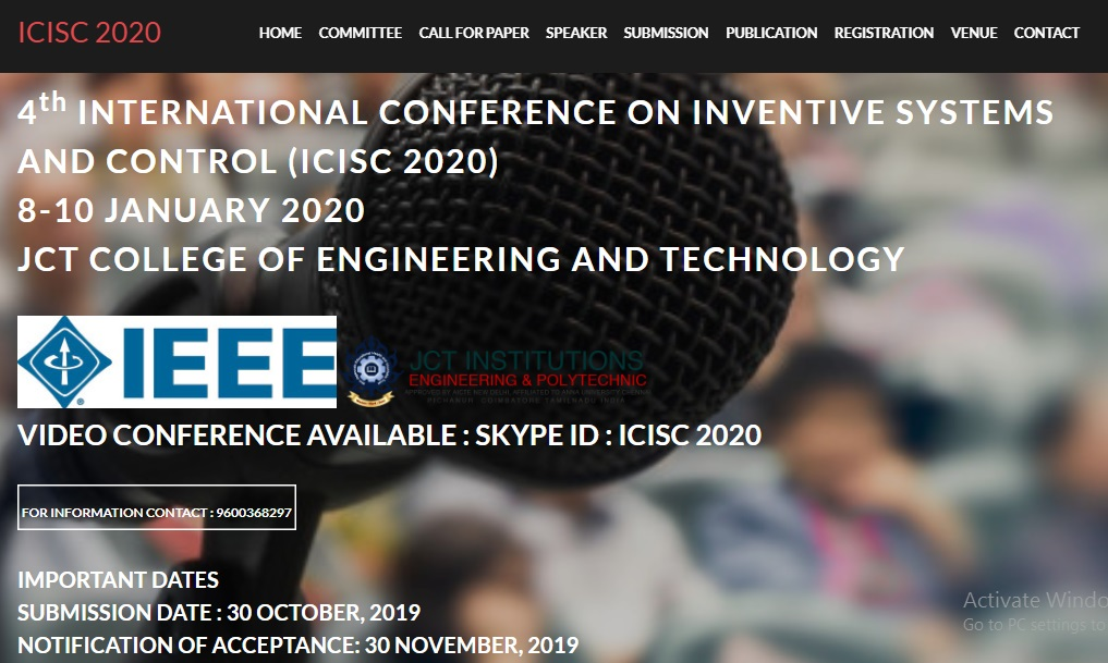 Scopus-Indexed IEEE 4th International Conference On