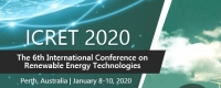 2020 The 6th International Conference on Renewable Energy Technologies (ICRET 2020)