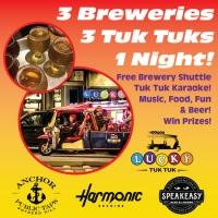 3 Craft Brews - 3 Tuk Tuks - 3 Hours - Lucky Tuk Tuk Craft Beer Shuttle
