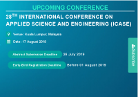 28th International Conference on Applied Science and Engineering (ICASE)