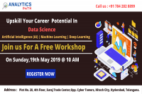 Sign Up For Free Workshop On Data Science Training-An Interactive Hour With Veteran Experts At Analytics Path On 19th May @ 10 AM, Hyderabad.