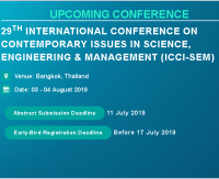 29th International Conference on Contemporary issues in Science, Engineering & Management (ICCI-SEM)