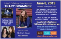 Tracy Grammer, w/ Stefilia's Stone opening, June 8, St. John's Coffeehouse