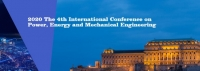 2020 The 4th International Conference on Power, Energy and Mechanical Engineering (ICPEME 2020)