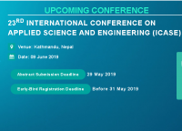 23rd International Conference on Applied Science and Engineering (ICASE)