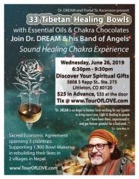 33 Tibetan Healing Bowls, Essential Oil & Raw Chocolate Littleton, CO