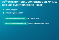 30th International Conference on Applied Science and Engineering (ICASE)