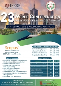 23rd World Conference on Applied Science, Engineering and Technology