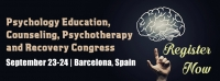Psychology Education, Counseling, Psychotherapy and Recovery Congress