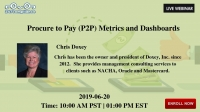 Procure to Pay (P2P) Metrics and Dashboards