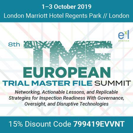 8th European Trial Master File Summit, London, England, United Kingdom
