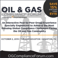 Oil And Gas Compliance Forum - October 2, 2019 - Houston, TX