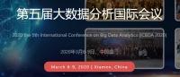 2020 The 5th International Conference on Big Data Analytics (ICBDA 2020)