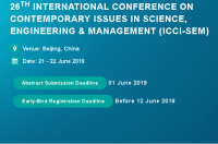 26th International Conference on Contemporary issues in Science, Engineering & Management (ICCI-SEM)