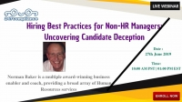 Hiring Best Practices for Non-HR Managers: Uncovering Candidate Deception